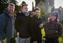 Jordon, Carles, John und ich