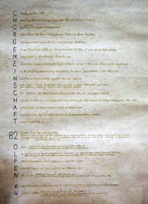 Das Gründungsjahr auf Pergament