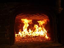 Le feu dans le four