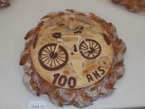Pain décoré sur le thème du 100ème tour de France