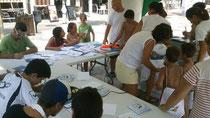 Taller infantil celebrado durante la campaña informativa