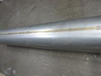 SUS304 0.5tのパイプ溶接です