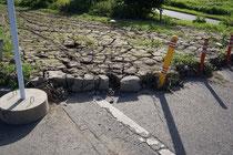 7月の豪雨災害でサイクリングロードが・・・