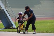 今日 自転車に乗れるようになりました