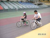自転車 乗れたよ!