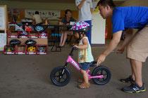2歳でも自転車に乗りたい!