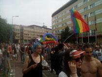 Der Zug am Lützowplatz, kurz vor der CDU-Parteizentrale.