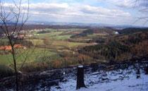 Weit schweift der Blick vom Tönsberg über das Umland. Foto: M. Füller