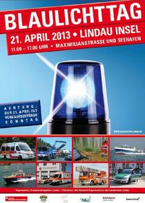Plakat Blaulichttag 2013 in Lindau