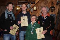 von links nach rechts: Stefan, Christian, Marion und Gevert