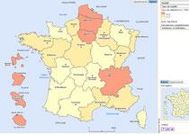 taux de natalité par régions