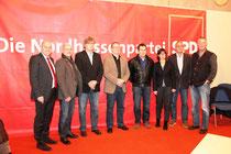 v.l.n.r.: SPD-Bezirksvorsitzender Manfred Schaub, SPD-Fraktionsvorsitzender Wetter Harald Althaus, Ralph Wiederstein, Clemens Drescher, Markus Jesberg (alle VfB Wetter), Juryvorsitzende Martina Werner, Uwe Heck (VfB Wetter), SPD-Geschäftsführer und Stadtr