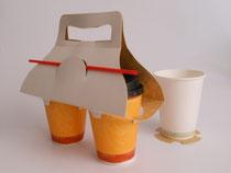 Empaques y cajas de cartón para cafeterías y restaurantes