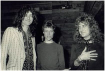 Jimmy Page, Kim Fowley, Robert Plant