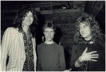 Jimmy Page, Kim Fowley, Robert Plant
