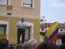 Acto contra la guerra en Colombia