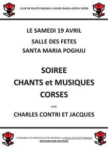 Soirée corse 19/04/2014