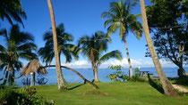 Angekommen im Paradise! Der Ausblick wenn wir morgens zum Frühstück gehen.