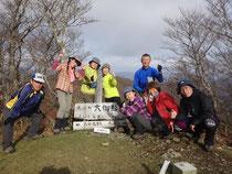 大御影山山頂 本日はここから白谷登山口に下ります。