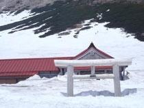 神社も鳥居もまだまだ雪の下
