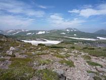 白雲分岐付近からの表大雪の山々