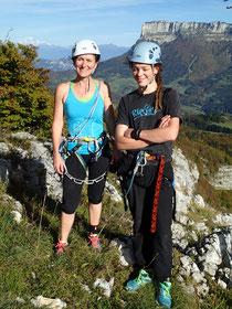 Nadine et Thibaut au sommet
