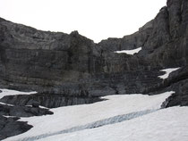 Les gradins du couloir qui permet de passer du glacier au col du Ruan
