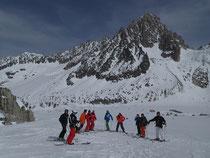 La belle équipe sur le Glacier d'Argentière