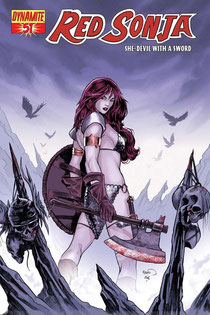 Red Sonja #51 cover by Paul Renaud.