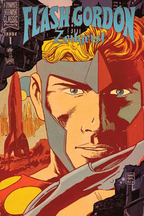 Flash Gordon: Zeitgeist #1 cover by Francesco Francavilla