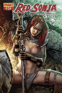 Red Sonja #61 cover by Wagner Reis.