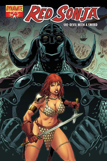RED SONJA #54 cover by Walter Geovani