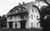 Gerätehaus von 1954 - 1981