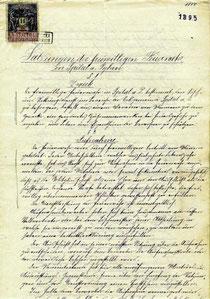 Satzung von 1895
