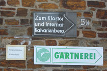 1 Schild einer Gärtnerei/Sign of a market garden