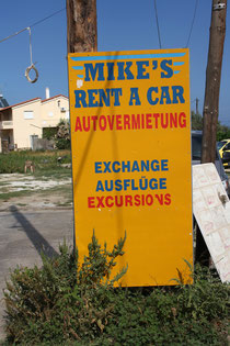 "11 Schild ""Rent a car""/Sign ""Rent a car"""
