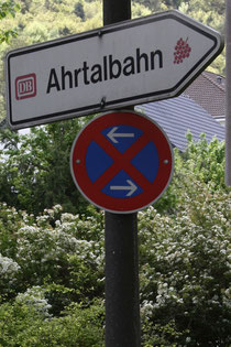 "16 Schild der Ahrtalbahn/Sign of the ""Ahrtalbahn"""