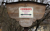 32 Schild für Cowboys/Sign for Cowboys
