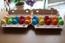 3 Osterreier/Easter eggs