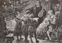 Luther mit seiner Familie am Christabend nach Bernhard Plockhorst (1825-1907)