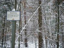 Hinweisschild auf die Römerstraße bei Wiesental