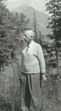 Teilhard at Glacier Park Montana in 1952