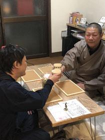11/19近隣の仏師の男性が参加下さいました。