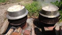 今年も神宮寺(淡路市)の裏藪の竹の子の釜茹でが始まり始まり❗