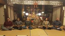 2019/4/8神宮寺(淡路市)の第1回座禅会です。外国の方々がご参加、私の言葉がしどろもどろでした😱💦毎月8日の19時~です。
