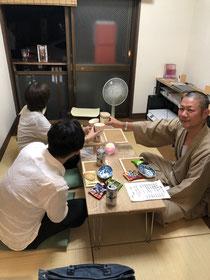 6/10の寺飲みは近隣の仏師の男性と堺の女性が参加下さいました。古墳の話や仏像の話で盛り上がりました。ありがとうございます☺️