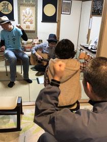 2019/11/23 寺ライブ「オオツエ」&やまのほりの高ちやん、故郷の曲に浸りました。ありがとう🎵