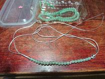 念珠ブレスレット制作始めました。