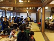 2019/12/23。神宮寺の納め不動護摩。暖かい天気の良い日でした。参拝記念のうどんと身代わり不動守りをお渡ししました。余興として摺元先生が童謡などの歌を披露下さいました。ありがとうございます。
