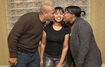 Карлина Уайт с родителями